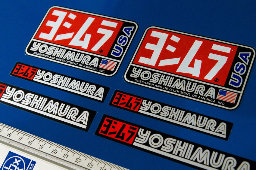 6pcs premium yoshimura stickers decals graphics aufkleber for Autocollant mural