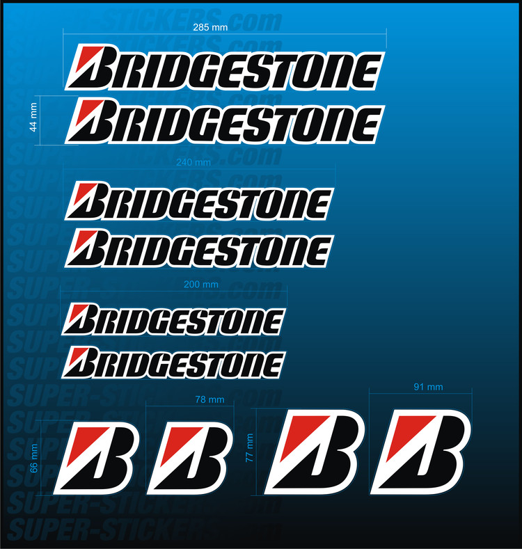 BRIDGESTONE Decal KIT Stickers Logo Aufkleber Adesivi Autocollant - Bridgestone custom stickers motorcycle