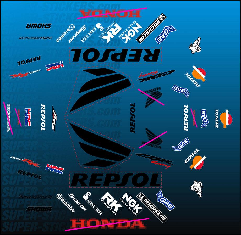 Honda Fireblade CBR Racing Logo Decal Honda