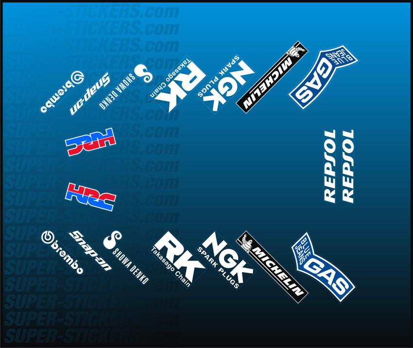 Cbr 1000 Rr Sc57 04 07 Lower Cowl Sponsor Stickers Decals